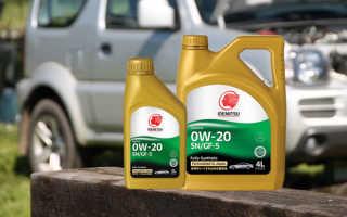 Моторное масло идемитсу 0w20