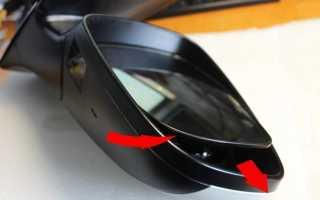 Как разобрать боковое зеркало на хендай солярис