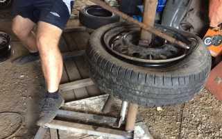 Как разбортировать колесо в домашних условиях