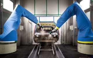 Как красят машины на заводе видео