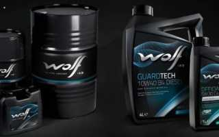 Моторное масло wolf 10w 40