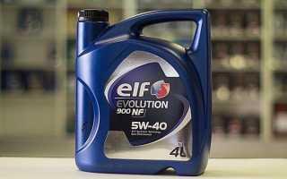 Моторное масло elf evolution 900