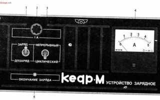Как работает зарядное устройство кедр