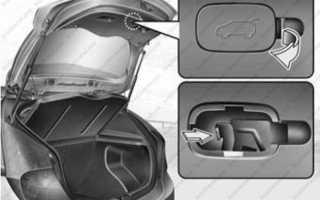 Кнопка открывания багажника хендай солярис хэтчбек