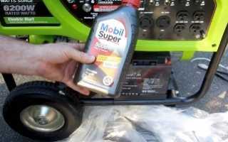 Какое масло нужно для генератора