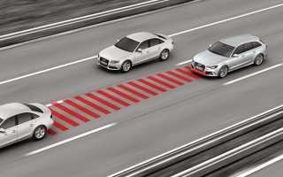 Расстояние между машиной и дорогой