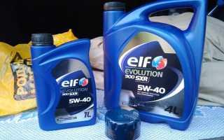 Моторное масло elf evolution 900 sxr