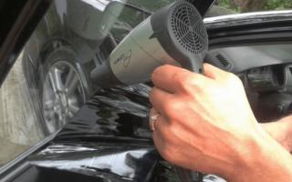Как снять старую пленку со стекла автомобиля