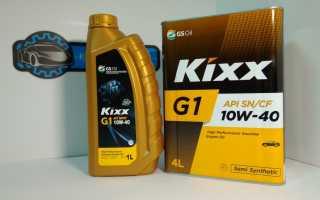 Моторное масло кикс 10 в 40