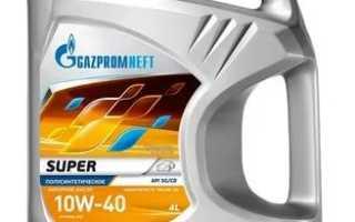 Масло газпромнефть 10w 40 полусинтетика отзывы