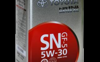 Тойотовское масло 5w30 в железной банке