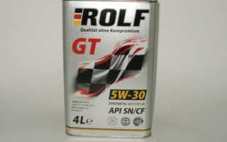 Моторное масло рольф 5w30 отзывы характеристики