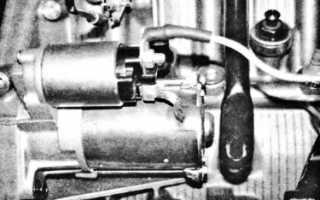 Электрическая схема пуска двигателя