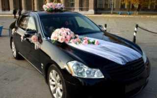 Как красиво украсить машину на свадьбу