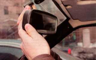 Крепление зеркала заднего вида ваз 2109