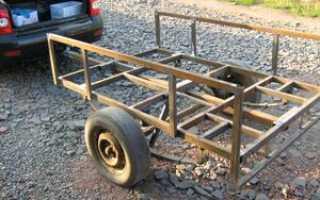 Самодельный автоприцеп для легкового автомобиля