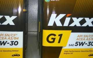 Моторное масло кикс 5w30 синтетика