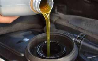 Какой объем масла в двигателе